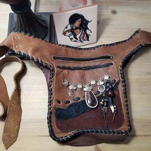 Brown hip bag